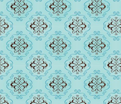 Marie - flourish and swirl fabric by katrinazerilli on Spoonflower - custom fabric