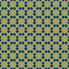 Knotwork-Blue and Gold
