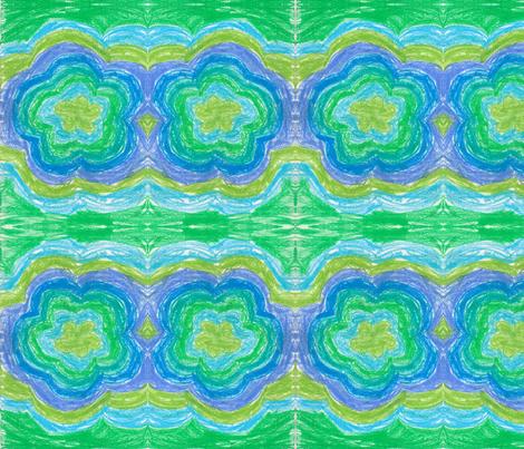 Water Flower fabric by sbzrn on Spoonflower - custom fabric