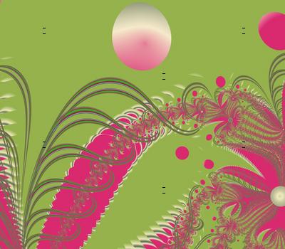 Undersea fronds, pink