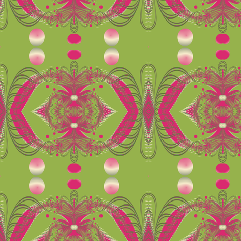 Undersea fronds, pink fabric by eclectic_house on Spoonflower - custom fabric
