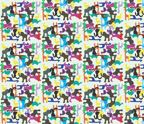 Animal Puzzle fabric by annalisa222 on Spoonflower - custom fabric