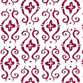 baroque lozenge - snow white