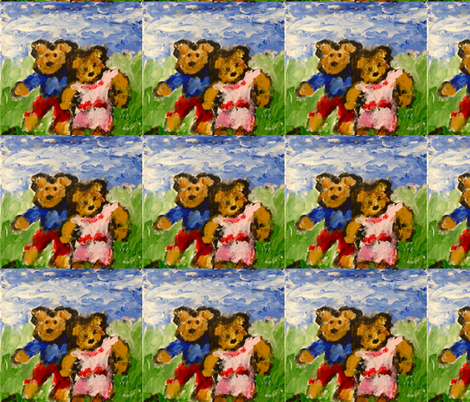 Teddybears_on_a_Date fabric by anne_k_abbott on Spoonflower - custom fabric