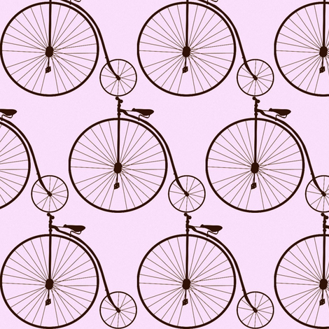 Vintage bicycle fabric by colebird on Spoonflower - custom fabric