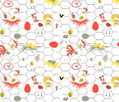 Which came first? fabric by minimiel on Spoonflower - custom fabric