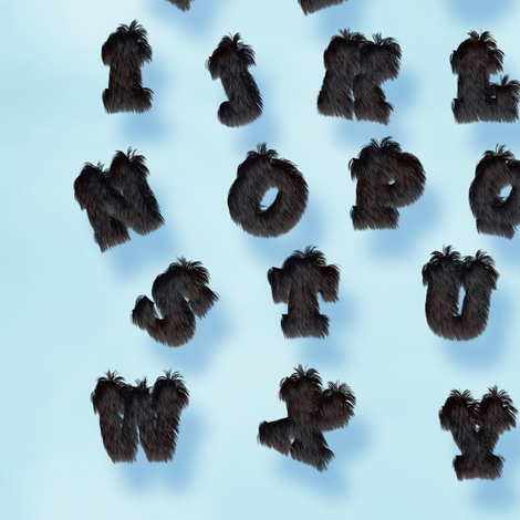 Panther Fur Alphabet fabric by animotaxis on Spoonflower - custom fabric