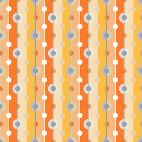 Peach dots with tan fabric by joanmclemore on Spoonflower - custom fabric