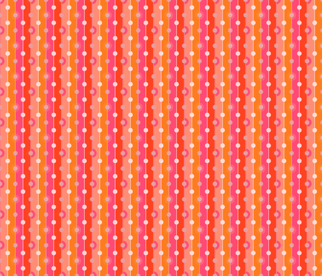 Peach Dots fabric by joanmclemore on Spoonflower - custom fabric