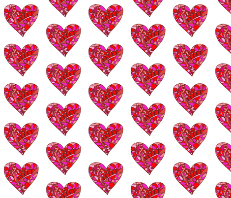 Mackintosh Heart - red fabric by littlemissquarter on Spoonflower - custom fabric