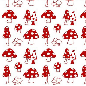 toadstools - red