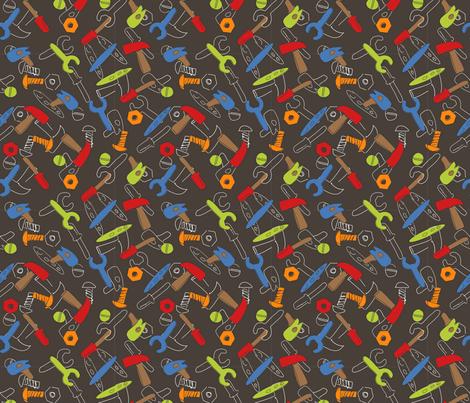 LaraGeorgine_Tools fabric by larageorgine on Spoonflower - custom fabric