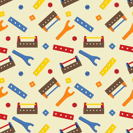 LaraGeorgine_ToolBox fabric by larageorgine on Spoonflower - custom fabric