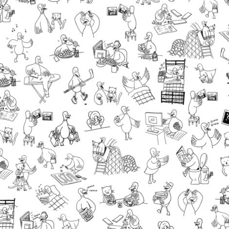 Ducks! fabric by sheena_hisiro on Spoonflower - custom fabric