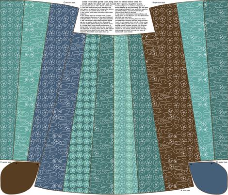 Engineered_gored_gypsy_skirt_1yd_kids_BLGRN-BRN fabric by mina on Spoonflower - custom fabric
