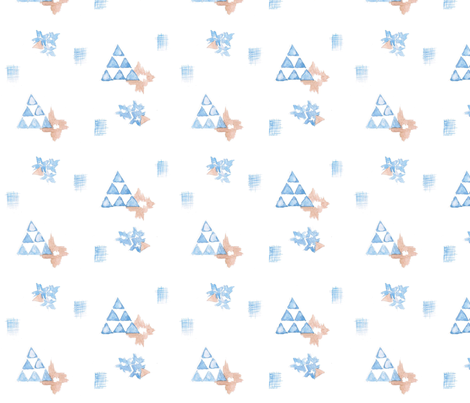 Watercolor Triangle Print fabric by wiksten on Spoonflower - custom fabric