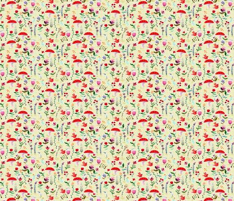 fleur des bois blanc S fabric by nadja_petremand on Spoonflower - custom fabric