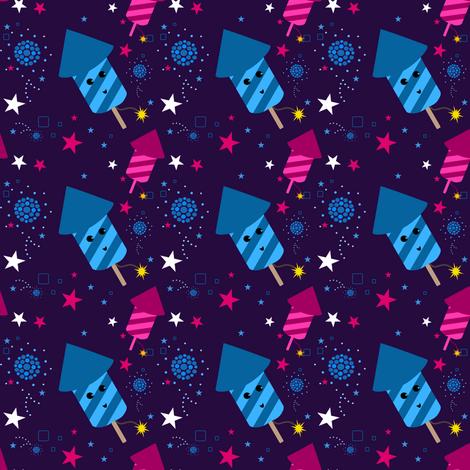 Baby you're a firework! - © PinkSodaPop 4ComputerHeaven.com  fabric by pinksodapop on Spoonflower - custom fabric