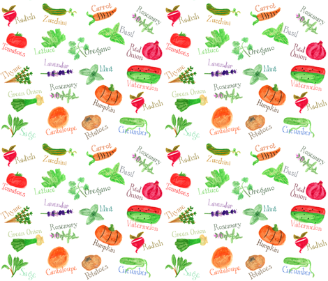 Langley's Garden Markers fabric by marleyungaro on Spoonflower - custom fabric