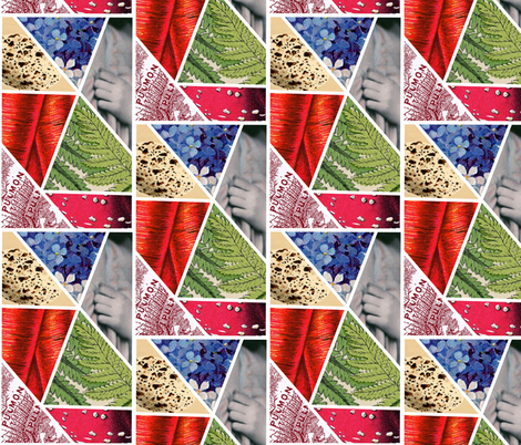 collageVintageV2 fabric by dolphinandcondor on Spoonflower - custom fabric