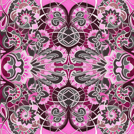Magenta garden fabric by edsel2084 on Spoonflower - custom fabric