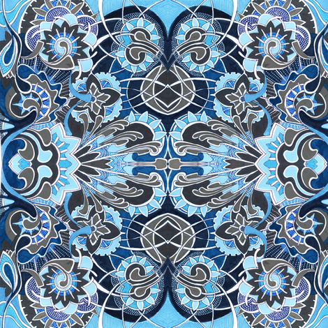 Sky blue garden fabric by edsel2084 on Spoonflower - custom fabric