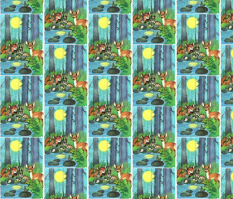 Animals in the forest fabric by vinkeli on Spoonflower - custom fabric