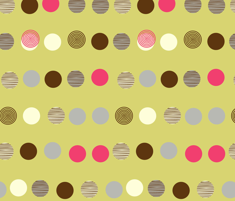 linear texture circles fabric by amel24 on Spoonflower - custom fabric