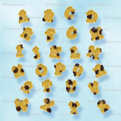 Cheetah Fur Alphabet