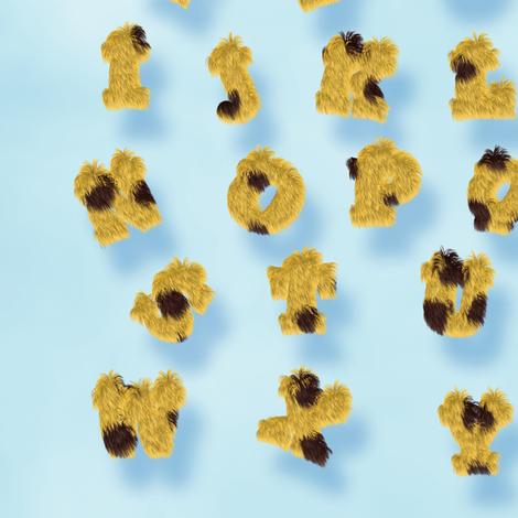 Cheetah Fur Alphabet fabric by animotaxis on Spoonflower - custom fabric