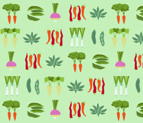 vegetables_pattern fabric by lfntextiles on Spoonflower - custom fabric