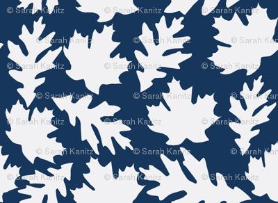 Falling leaves in Navy