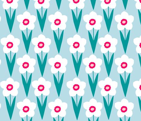 blue_daffodil fabric by slkanitz on Spoonflower - custom fabric