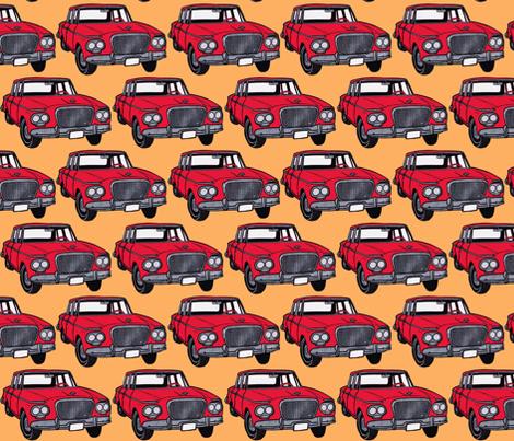 Whole Lotta red 1963 Studebaker Larks fabric by edsel2084 on Spoonflower - custom fabric