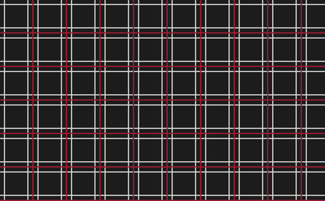 Persona 5 Shujin High School Uniform Plaid (Black/Red/White) fabric by atashi on Spoonflower - custom fabric