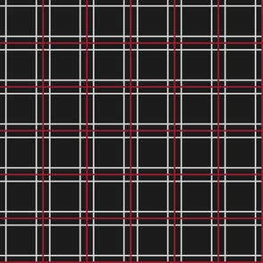 Persona 5 Shujin High School Uniform Plaid (Black/Red/White)