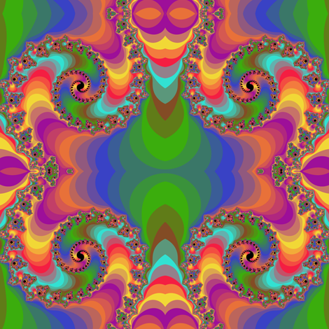 Rainbow double spiral fabric by eclectic_house on Spoonflower - custom fabric