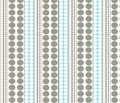 Pearls_olive_aqua fabric by designedtoat on Spoonflower - custom fabric