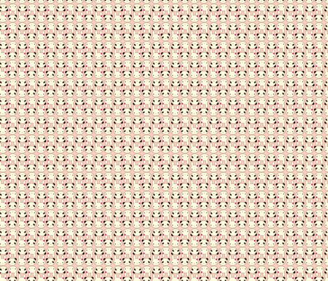 Tiny Bunny & Panda - Pink fabric by marcelinesmith on Spoonflower - custom fabric