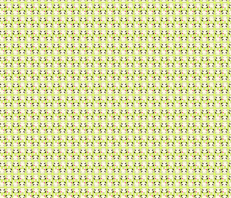Tiny Bunny & Panda - Green fabric by marcelinesmith on Spoonflower - custom fabric