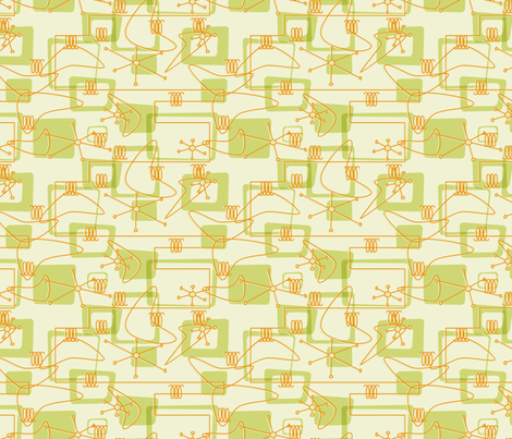 Kitschy Orange and Olive fabric by exstock on Spoonflower - custom fabric