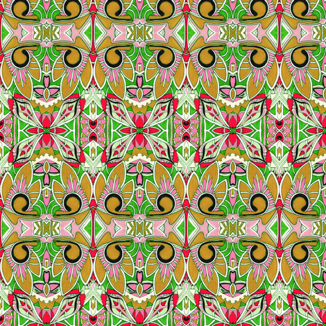 Tiki party in the sand fabric by edsel2084 on Spoonflower - custom fabric