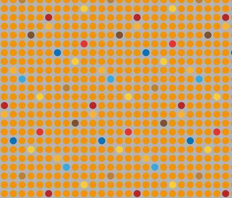 No dogs allowed! - yellow dots fabric by annosch on Spoonflower - custom fabric
