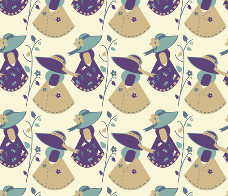 Lively In The Garden fabric by eppiepeppercorn on Spoonflower - custom fabric