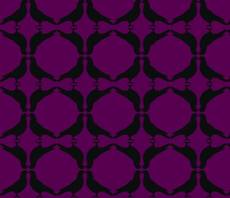 Pigeon Circles-BkP fabric by relative_of_otis on Spoonflower - custom fabric