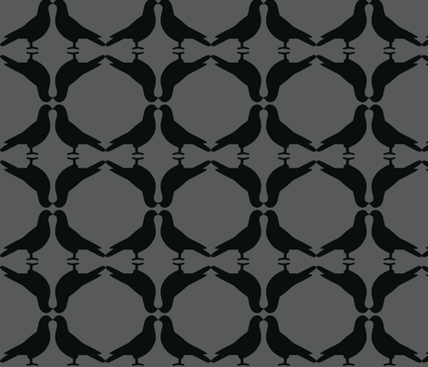 Pigeon Circles-Gray fabric by relative_of_otis on Spoonflower - custom fabric