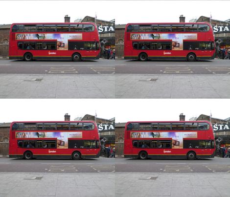 London Double Decker Bus fabric by susaninparis on Spoonflower - custom fabric
