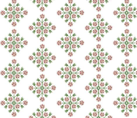 ArtNouveauFlower-W fabric by relative_of_otis on Spoonflower - custom fabric
