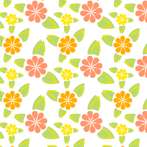 Minimalist Citrus Punch fabric by eppiepeppercorn on Spoonflower - custom fabric