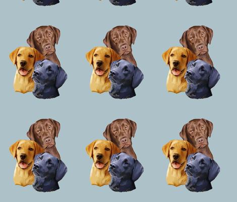 Labrador Retriever Three colors fabric by dogdaze_ on Spoonflower - custom fabric